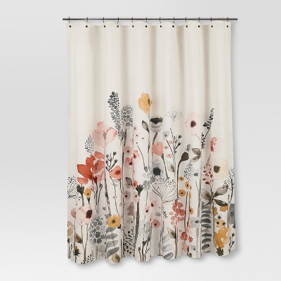 Shower Curtain Floral Wave - Threshold™ : Target