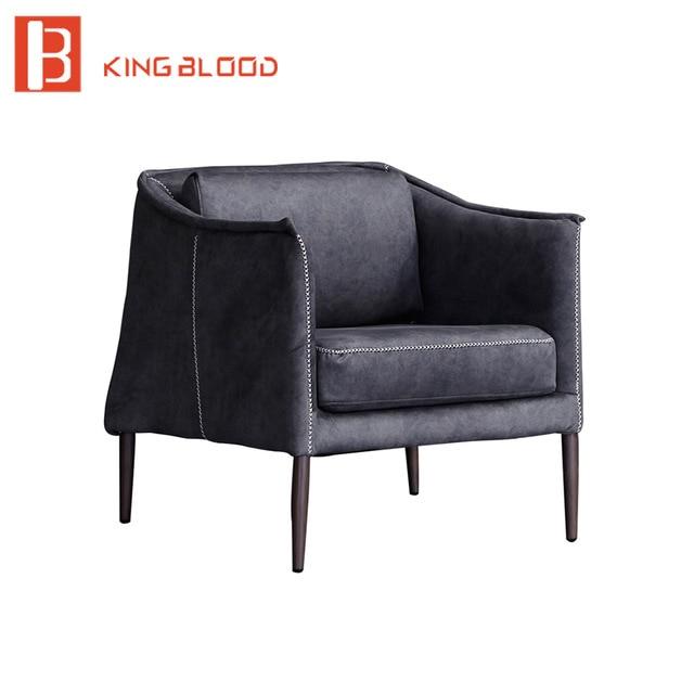 living room furniture sets iron leg single sofa chair fabric