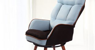 Wooden Low Seat Armchair Sofa 360 Degree Swivel Chair Living Room