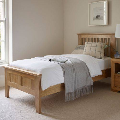 Oak Single Beds | Solid Wood Single Bed Frames | Oak Furniture Land