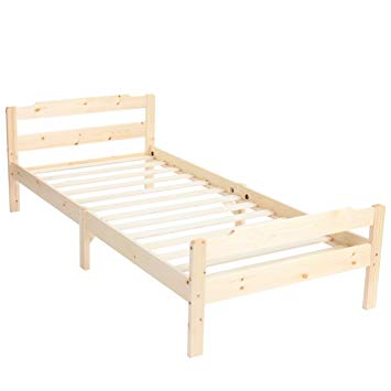 Mendler Cairns, Cot Bed, Solid Pine Wood Slatted Frame incl. 200