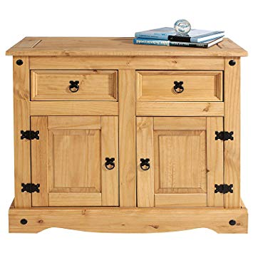 Amazon.com: Mews Corona Small Sideboard Solid Pine 2 Door, Mexican