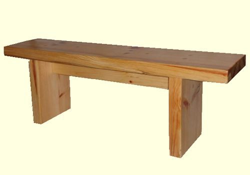 Solid wood benches