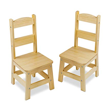 Amazon.com: Melissa & Doug Solid Wood Chairs, Chairs for Kids, Light