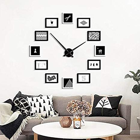 Amazon.com: TYF Photo Wall Solid Wood Living Room Wall Clock