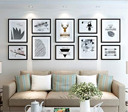 ZHAS Solid wood frame photography decoration creative wall living