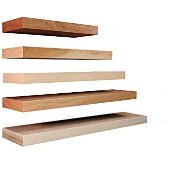 Floating Shelves Solid Wood and Veneer Construction, Oak Shelf