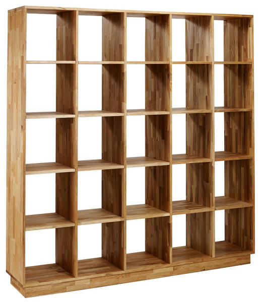 Mash Lax Solid Wood Large Modern Bookshelf - Modern - Bookcases - by