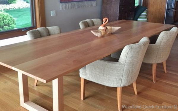 Solid Wood Contemporary Dining Table, Custom Made Dining Table