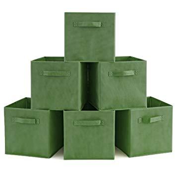 Amazon.com: EZOWare Set of 6 Basket Bins Collapsible Storage