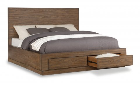 Queen Beds from Flexsteel | Platform Storage Beds with Drawers