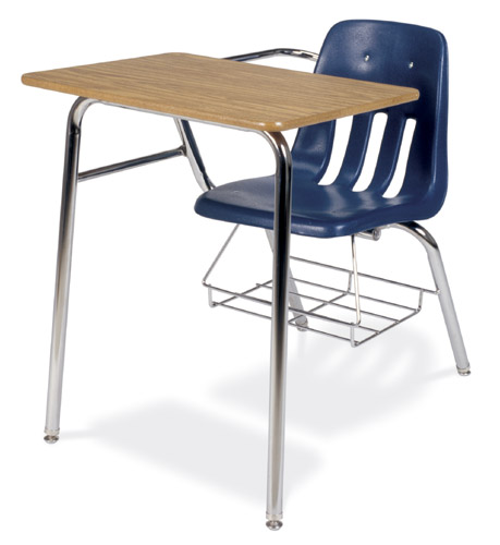 Virco Soft Plastic Student Chair Desk Combo with Bookrack u2013 School