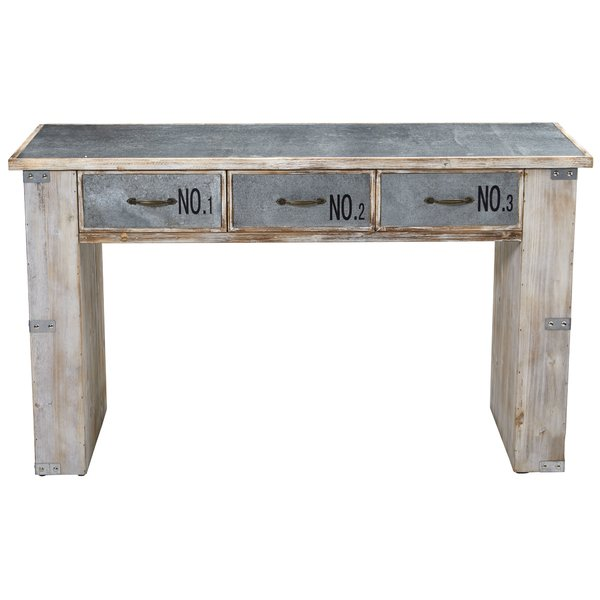 17 Stories Linton Industrial Telephone Table | Wayfair