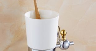 Silver Polish Cup toothbrush holder Modern Toothbrush Tumbler Flower