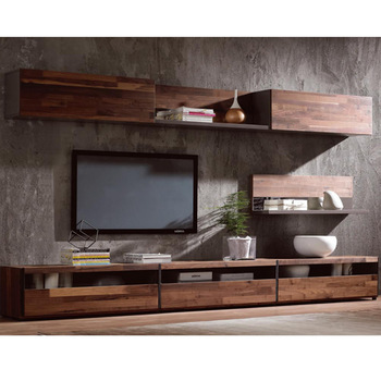 Modern Simple Tv Stand,Walnut Wood Veneer Tv Cabinet - Buy Tv