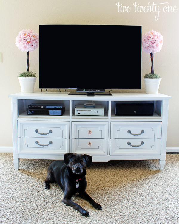 Dresser Turned TV Stand - Two Twenty One