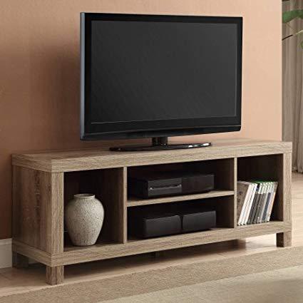Amazon.com: Cross Mill TV Stand (Rustic Oak, 47.24 x 15.75 x 19.09