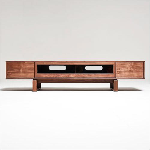 Helena TV Stand - low bench in walnut with drawers - Scan Design