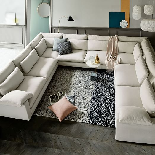 Harmony Down-Filled U-Shaped Sectional | west elm
