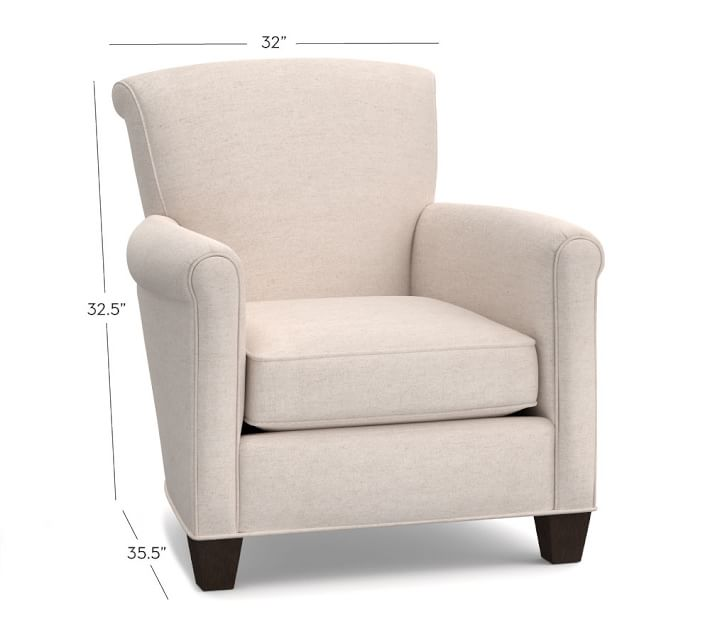 Upholstered armchair with comfort high 10!