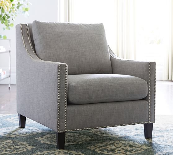 Pasadena Upholstered Armchair | Pottery Barn