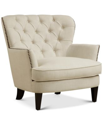 BLUSH & BRASS Nadell Upholstered Armchair, Quick Ship - Furniture