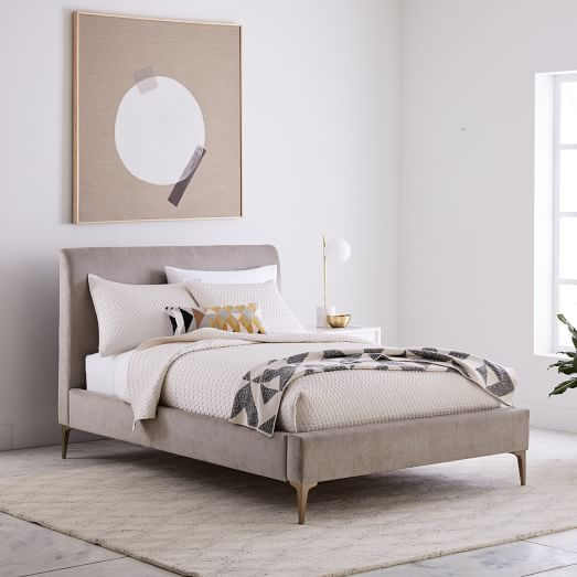 Andes Deco Upholstered Bed | west elm