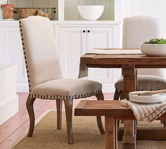 Calais Upholstered Dining Chair | Pottery Barn