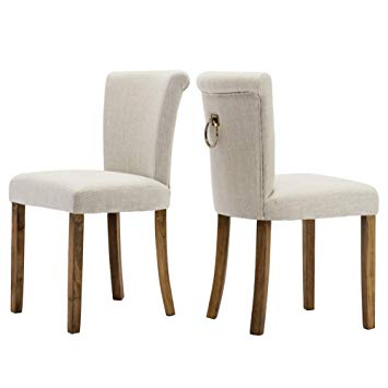 Amazon.com - Fabric Dining Room Upholstered Chairs, Set of 2