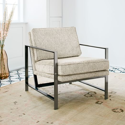 Metal Frame Upholstered Chair | west elm