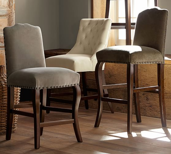 Calais Upholstered Bar Stool | Pottery Barn
