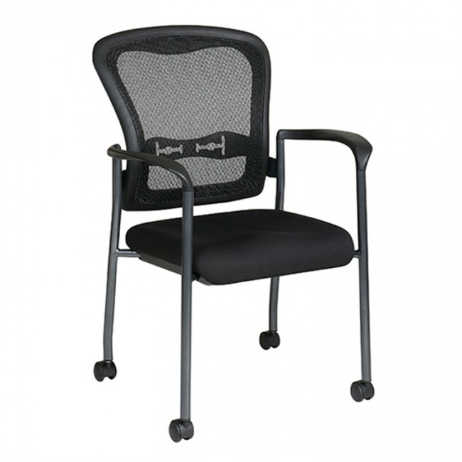 Office Star 84540-30 Pro-Line II Visitors Chair, Gray, EA