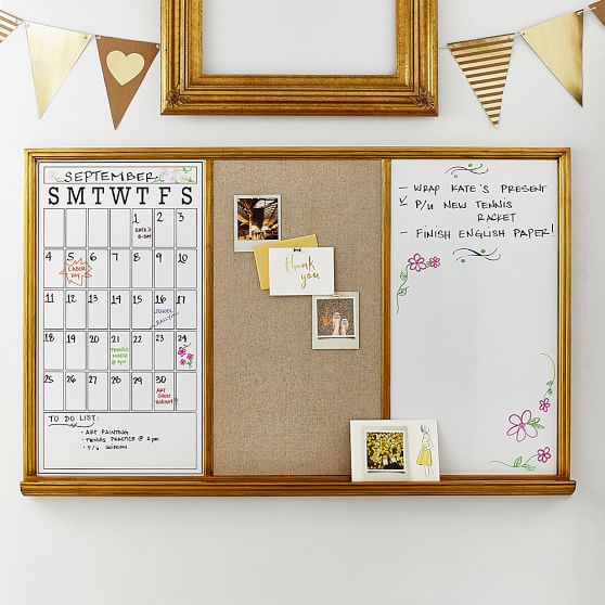 Study Wall Board, Gold Triple | PBteen