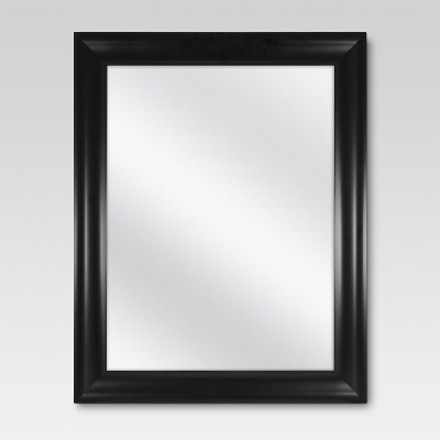 Rectangle Flat Decorative Wall Mirror Black - Threshold™ : Target