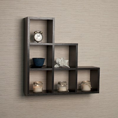 Stepped Six Cube Decorative Wall Shelf : Target