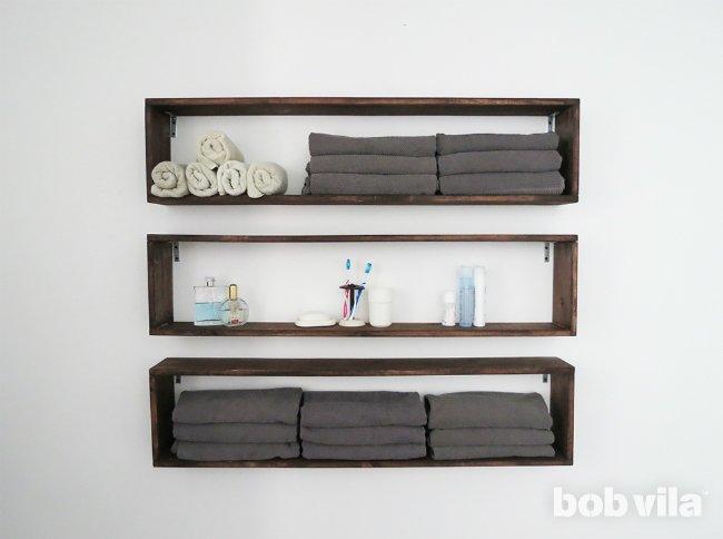 DIY Wall Shelves in the Bathroom - Tutorial - Bob Vila