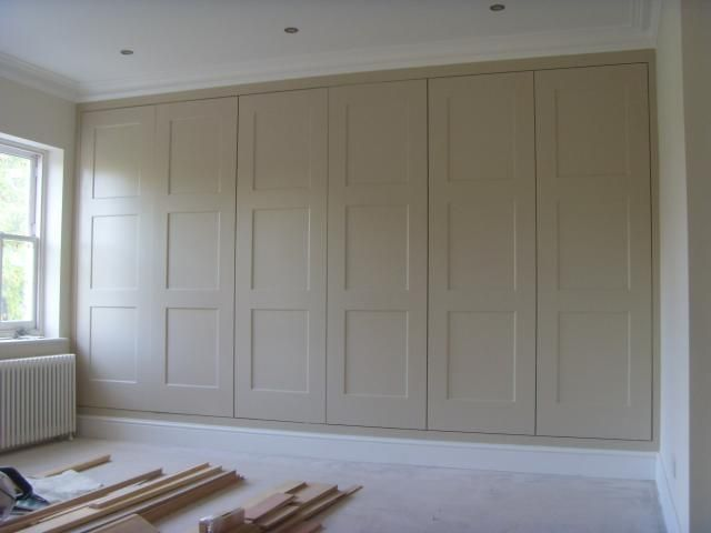 Love how these look like old fashioned paneled walls --- Fitted