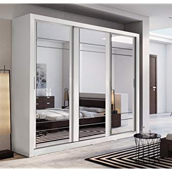 Brand New Modern Bedroom Mirror Sliding Door Wardrobe ARTI 2 in