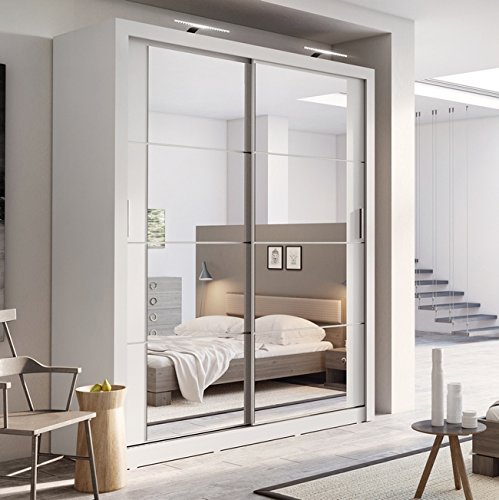 Arthauss Modern Bedroom Mirror Sliding Door Wardrobe ARTI 3 in Matt