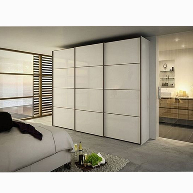 Solid Wood Wardrobe Wardrobe Sliding Door Roller With Sliding Door