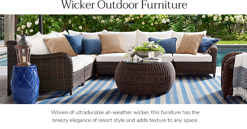 Wicker furniture: natural design in a sophisticated way
