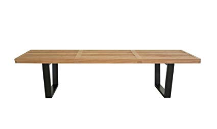 Amazon.com - Baxton Studio Nelson Wooden Bench, Natural - Table Benches