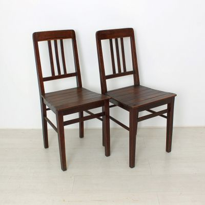 Vintage Wooden Chairs, 1920s, Set of 2 for sale at Pamono