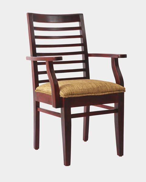 Wooden Cushion Chair With Arms. Online Furniture Shopping Site in India