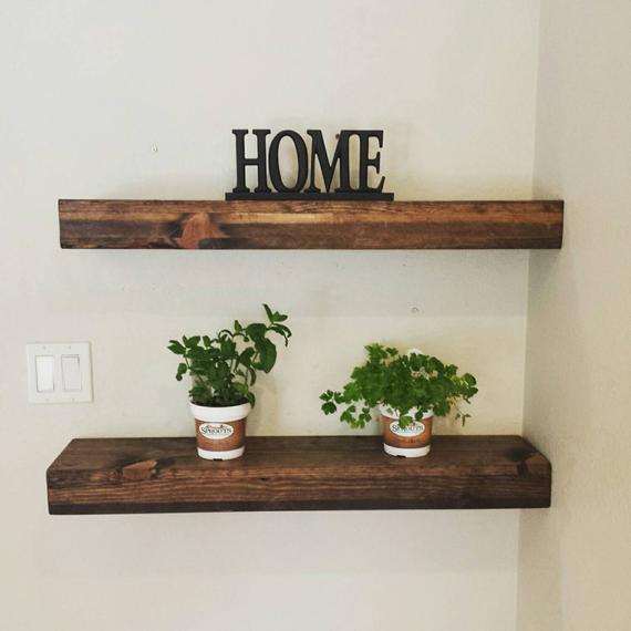 Rustic Reclaimed Wood Floating Shelves/Mantel/ Wall Shelf/ | Etsy