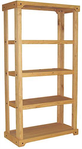 Wood Shelving Unit | Open Backdrop