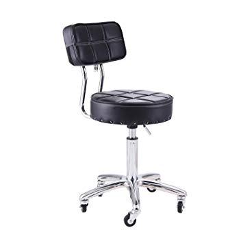 Amazon.com : Rfiver Small Swivel Massage Chair Spa Stool with Back