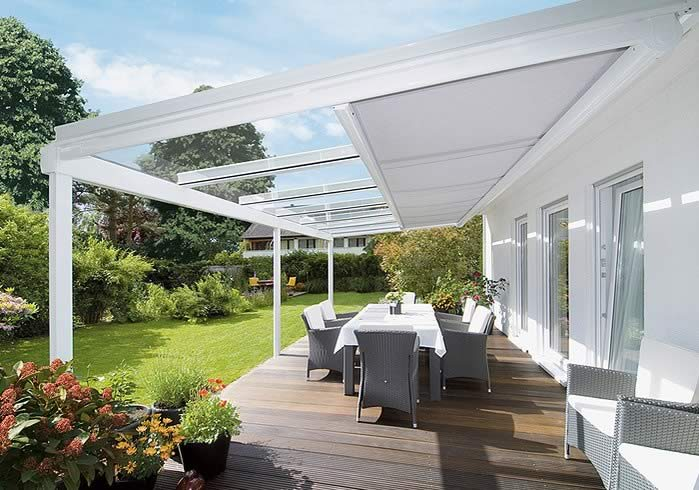 Awning for conservatory