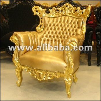 Luxury Fabulous Modern Gold Baroque Living Room Sofa Sets Antique