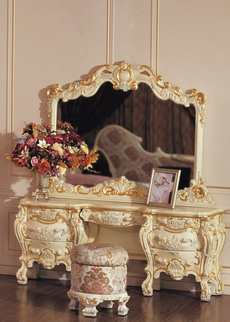 baroque furniture white dressing table luxury bedroom furniture sets